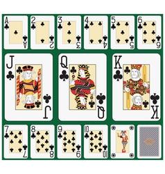 Club suit Black Jack large figures vector image vector image
