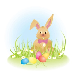 easter rabbit Converted vector image