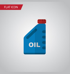 isolated oil jerrycan flat icon petrol vector image