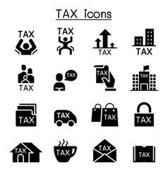 tax icon set graphic design vector image vector image