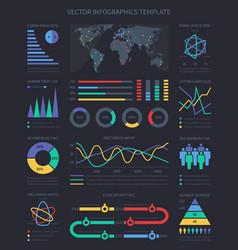 data visualisation charts and diagrams vector image vector image