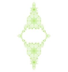 Decorative floral mandala frame element vector