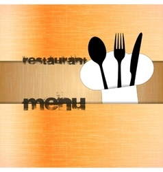 restaurant menu with chef hat uno vector image