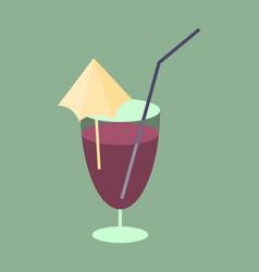 Sweet dessert in flat design cocktail vector