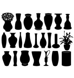 vase set vector image vector image