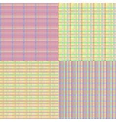 Checkered Seamless Set vector image