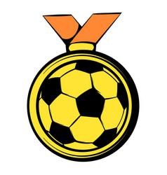 gold soccer medal icon icon cartoon vector image vector image