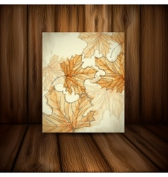 Hand Drawn Autumn Background vector image