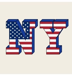 NYC typography t-shirt graphics vector image vector image