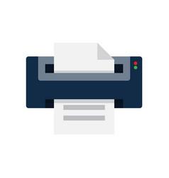 printer flat icon vector image vector image