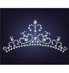 Tiara crown womens wedding made from diamonds vector image
