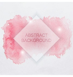 Abstract Watercolor Background with Red Splash and vector image vector image