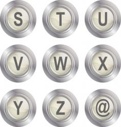 alphabet button sz vector image vector image