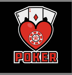 casino poker icon template gamling cards vector image