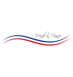 made in france symbol colored ribbon vector image vector image