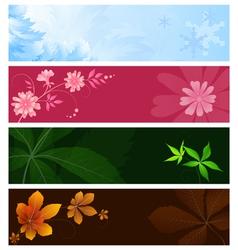 Seasonal banners vector image vector image