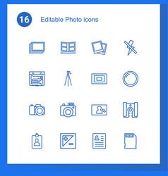 16 photo icons vector