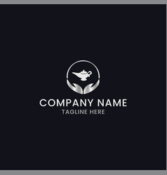 Abstract genies logo design vector