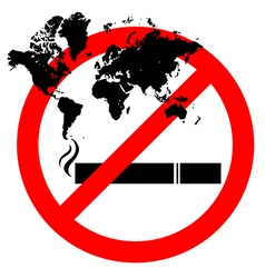 Abstract prohibiting smoking sign for World No vector image
