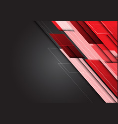 abstract red tone overlap technology on gray vector image