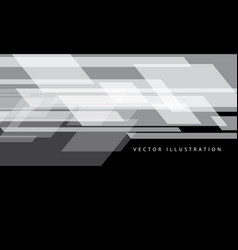 Abstract white data flow speed on black design vector