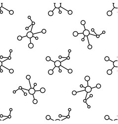 atom line seamless pattern on white background vector image