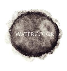 black abstract watercolor hand drawn texture vector image