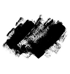 black grunge brushstrokes desing element vector image