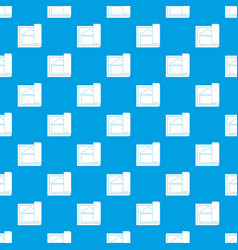 building plan pattern seamless blue vector image