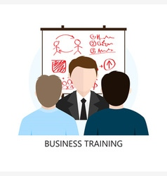 Business Training Icon Flat Design Concept vector image