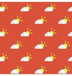 Cloud and Sun Pattern vector image