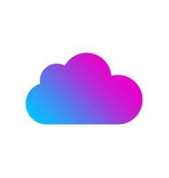 colored cloud icon on white background logo vector image