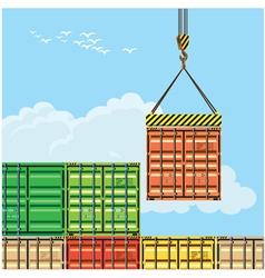container handling vector image