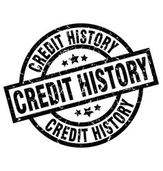Credit history round grunge black stamp vector