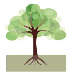 decorative image of tree vector image