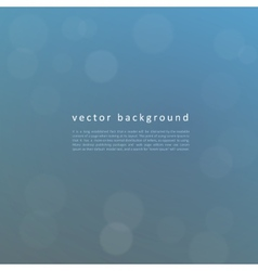 Defocused blue background vector image