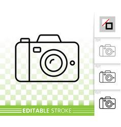 digital camera simple black line icon vector image