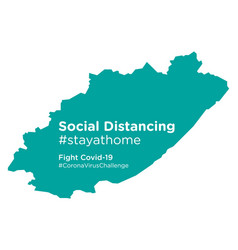 Eastern cape south africa map with social vector
