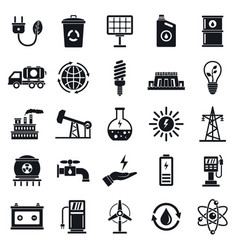 Ecology icon set simple style vector