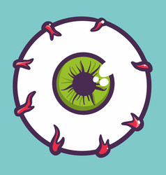 Eyeball icon hand drawn style vector