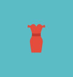 flat icon evening dress element vector image