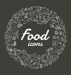 food line icons set vector image