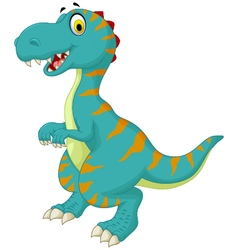 funny dinosaur cartoon for you design vector image