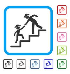 gentleman education steps framed icon vector image