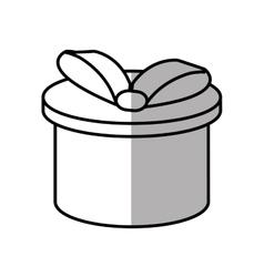 gift box ribbon ornament celebration shadow vector image