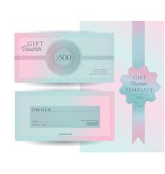 gift voucher card template modern discount 500 vector image