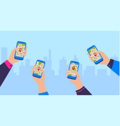 Gps navigation app mobile navigational vector