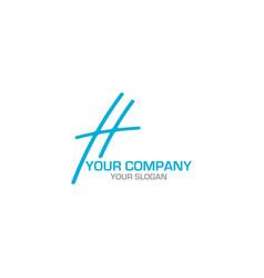 h blue logo design vector image