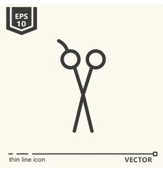 Hairdressing tools Icons series Scissors vector