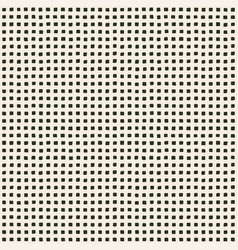 Hand perforated pattern with irregular square vector